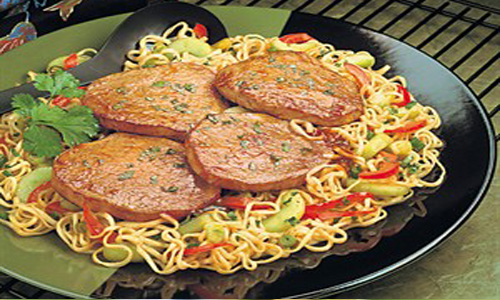 Asian Beef Steaks & Noodles