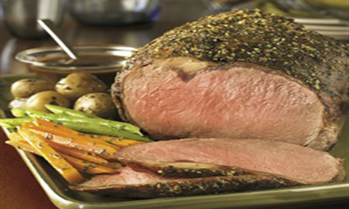 Classic Beef Ribeye Roast With Herb Shallot Sauce