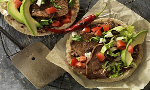 Beef Steak And Black Bean Soft Tacos
