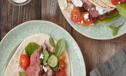 American Lamb Gyros with Tzatziki